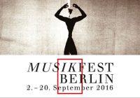Со 2 по 20 сентября пройдет Musikfest Berlin