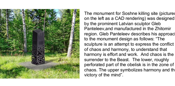 Holocaust Monument Opening at the Soshne Forest Killing Site.