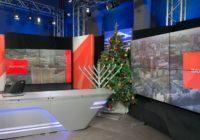 Как в США: Украинский телеканал разместил рядом елку и ханукию